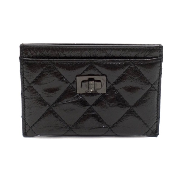 aee8169e116c CHANEL Accessories | So Black Reissue Card Holder Wallet | Poshmark